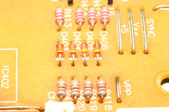 Resistors on circuit board Stock Images