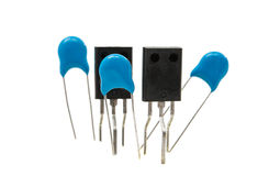 Resistors isolated Royalty Free Stock Images