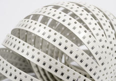 Resistors. SMD type. Resistors stripe. SMD type. on white stock image