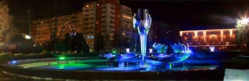 Resita, Romania. Kinetic fountain in Resita romania Stock Image