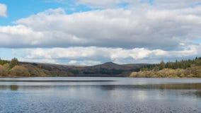 Resivior otaczał pięknego krajobraz Obraz Royalty Free