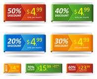 Resizable vector discount card or price tag. Stock Photography