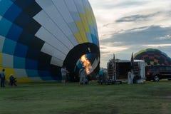 Resning för ballong för varm luft i nya Deming - Mexiko arkivbild