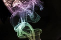 Resningpastell röker Arkivfoton