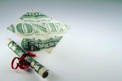 Resningskolavgiftkostnader royaltyfri fotografi