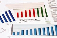 Resolução sobre cartas e gráficos Fotos de Stock