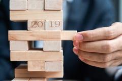 Resolución del Año Nuevo 2019 foto de archivo libre de regalías