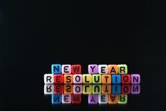 Resolución del Año Nuevo Foto de archivo