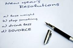 Resolución del divorcio Fotos de archivo