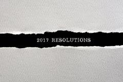 2017 resoluciones Foto de archivo libre de regalías