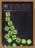 Resoluciones de descoloramiento del Año Nuevo Fotografía de archivo