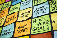 Resoluciones del Año Nuevo Fotos de archivo libres de regalías