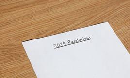 Resoluciones 2014 del Año Nuevo Imágenes de archivo libres de regalías