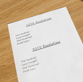 Resoluciones 2014 del Año Nuevo Foto de archivo libre de regalías