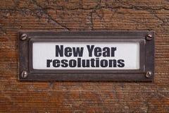 Resoluciones del Año Nuevo Fotos de archivo