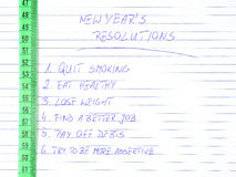 Resoluciones del Año Nuevo Imagen de archivo libre de regalías
