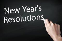 Resoluciones del Año Nuevo Fotografía de archivo libre de regalías