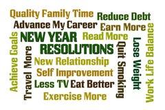 Resoluciones del Año Nuevo Imágenes de archivo libres de regalías