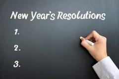 Resoluciones del Año Nuevo Fotografía de archivo