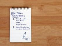 Resoluciones del Año Nuevo No haga ninguno Imagen de archivo