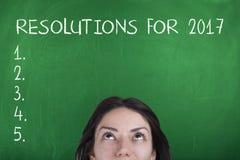 Resoluciones del Año Nuevo para 2017 Fotografía de archivo libre de regalías