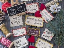 Resoluciones del ` s del Año Nuevo Foto de archivo