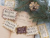 Resoluciones del ` s del Año Nuevo Fotografía de archivo libre de regalías