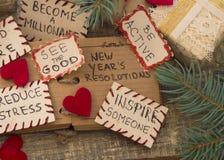 Resoluciones del ` s del Año Nuevo Foto de archivo libre de regalías
