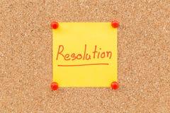 Resoluciones en blanco pegajosas de la nota por Año Nuevo Foto de archivo