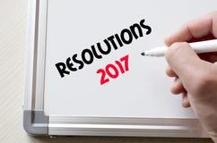Resoluciones 2017 escritas en whiteboard Foto de archivo libre de regalías