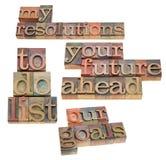 Resoluciones y hacer la lista Fotografía de archivo libre de regalías
