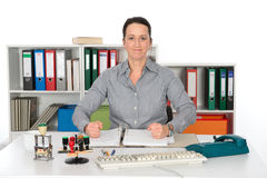 Resolute business woman Stock Photos
