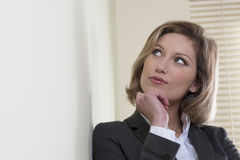 Resolute/Motivated businesswoman Royalty Free Stock Image