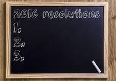 2016 resoluties Royalty-vrije Stock Foto's