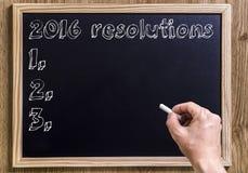 2016 resoluties Royalty-vrije Stock Afbeeldingen