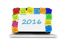 Resoluties voor 2016 Royalty-vrije Stock Foto's