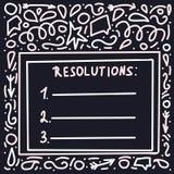 Resolutiesmalplaatje Spatie voor doelstellingen Vector illustratie vector illustratie