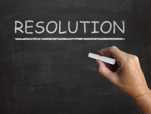 Resolution Blackboard Means Solution Settlement Royalty Free Stock Image