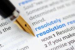 Resolution - Dictionary Series Stock Photography