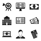 Resolution icons set, simple style. Resolution icons set. Simple set of 9 resolution vector icons for web isolated on white background Stock Images