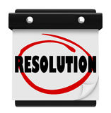 Resolution New Year Promise Vow Achieve Goal Resolved Mission Ca Stock Photography