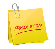 Resolution post message illustration design Stock Photo