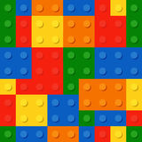 Resolution and quality seamless background from a colored plastic bricks. Royalty Free Stock Image