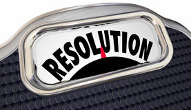 Resolution Word Scale New Year Commitment Lose Weight royalty free illustration
