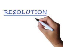 Resolution Word Shows Answer Solution Or Royalty Free Stock Images