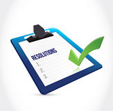 Resolutions check list clipboard illustration Stock Image