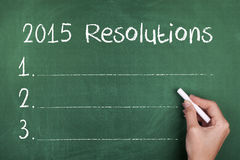 2015 Resolutions Goals for New Year Royalty Free Stock Photography