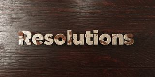 Resolutions - grungy wooden headline on Maple  - 3D rendered royalty free stock image Royalty Free Stock Photos