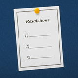 Resolutions List Royalty Free Stock Photo