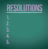 Resolutions list illustration design Stock Photography